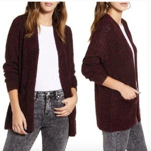 NEW BP XS Open Front Cardigan Sweater Boucle Knit